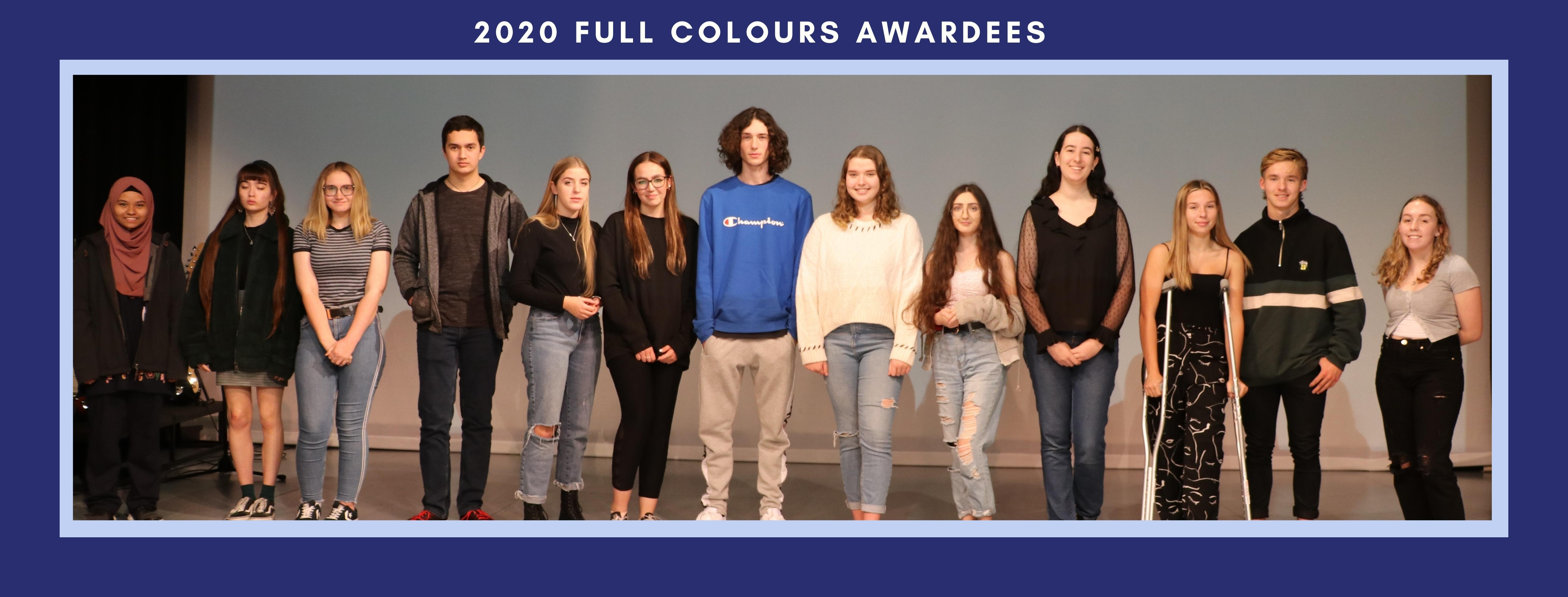 Image for 2020 Year 12 Colours Awards Night - Semester One